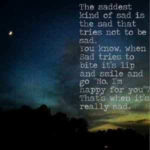 The saddest kind of sad…