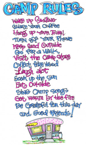 Camp Rules… Exactly!