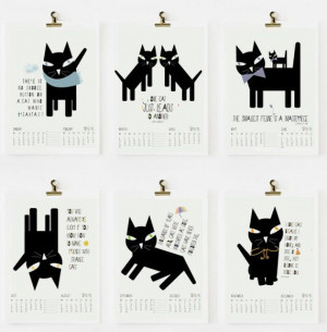 SALE CAT QUOTES Calendar 2014 pdf printable by nicemiceforyou