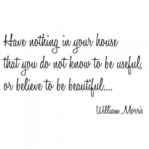 Useful Things William Morris Wall Sticker Quote