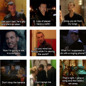 christopher eccleston as 9 in doctor who