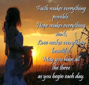 love it faith hope and love