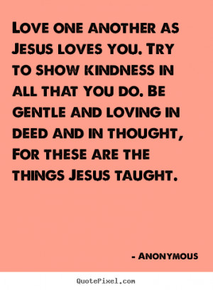 Jesus Love One Another Quote