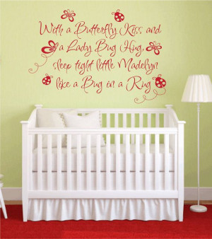 Baby Nursery Wall Quote Personalized Name Wall Decal Girl Baby Nursery ...