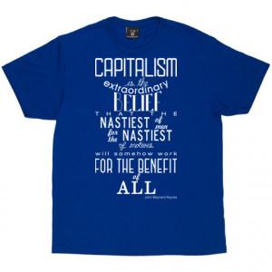John Maynard Keynes Capitalism Quote Royal Blue Men's T-Shirt. One of ...
