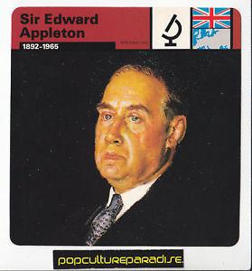 Details about SIR EDWARD APPLETON British Physicist Portrait WW2 CARD