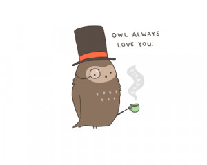 Owl Love You cute quotes about love