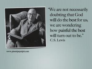 Lewis On Trusting God