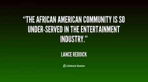 The African American community is so under-served in the entertainment ...