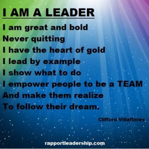 Leadership Poem I am a Leader by Clifford Villaflores