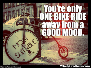 You're only one bike ride…