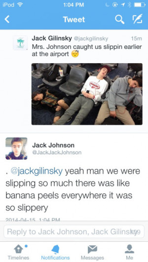 Jack Gilinsky tweets