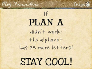 Wednesday SayingZ | Plan A
