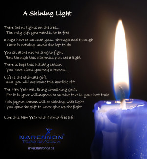Shining light Christmas poem A Christmas Poem for Addiction Recovery