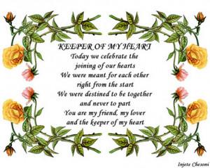 Wedding Anniversary Love Poem Poster, Buy Here
