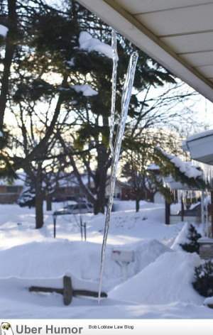 This icicle was saved by another icicle.