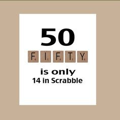 ... Birthday Card, Milestone Birthday, Scrabble Birthday Card, The Big 50