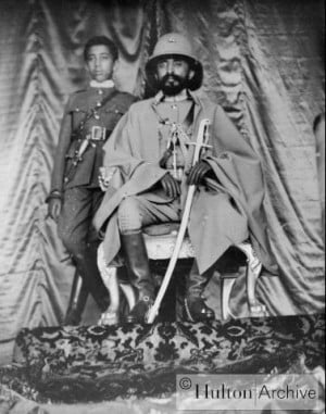 Haile Selassie And Menen