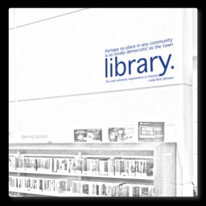 ... wall decals » books-quotes wall decals » LIBRARY - wall quote