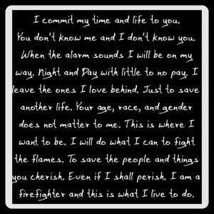 Firefighter quote by Payton Best