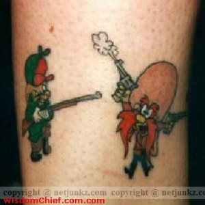 Cartoon Network Funny Tattoo