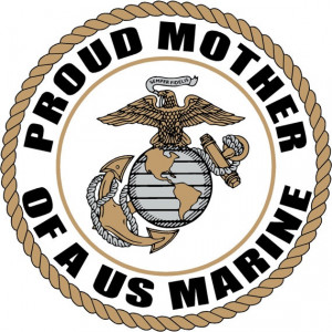 Proud Mother of a US MARINE CORPS Soldier by FiveStarStickers, $5.00