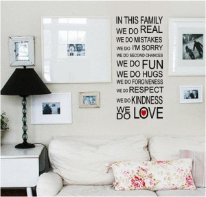 Family sayings and wall quotes are a beautiful way to decorate your ...