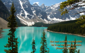 Psalm 33:20 Bible Verse Nature