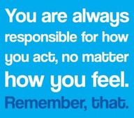 An inspirational picture quote about taking responsibility for ...