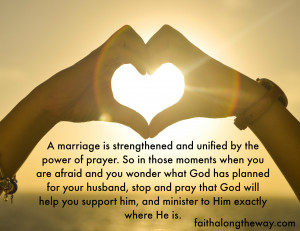 Ministering to Your Husband Quote Faith Along the Way