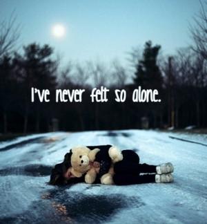 Alone - quotes Photo