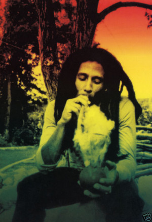 bob marley use marijuana - pictures