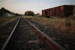 ... train wagon is pictured on the tracks of the Goias Railroad in