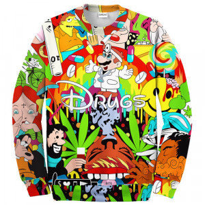 """Get your """"Trippy"""" Crewneck now. Available at sweatme.bigcartel.com ..."""