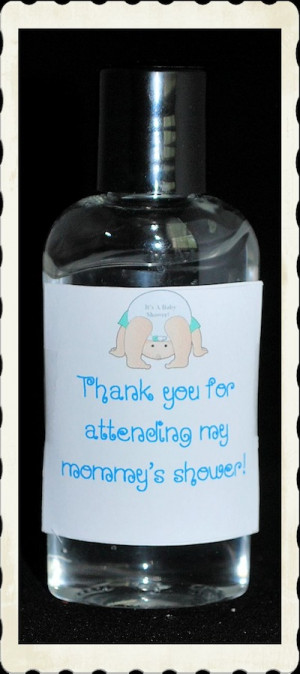 Baby Shower Hand Sanitizer Favor Sayings