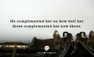 Compliment Or Complement Grammar