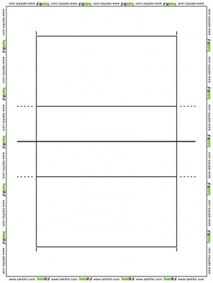 blank volleyball court sheets