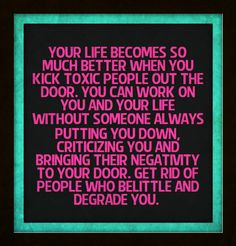 People bringing their negative opinions and criticisms can stay away ...