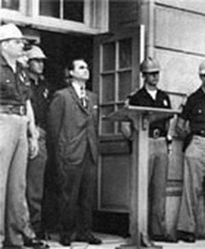 Fifty years ago evil Democrat Gov. George Wallace blocks the doorway ...
