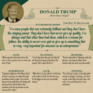 Donald Trump secrets to success.