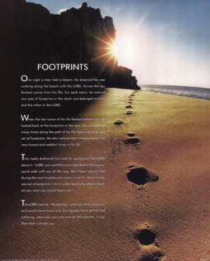 Homepage › Inspirational › Footprints »