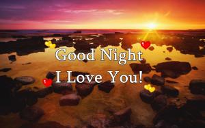 Good Night I Love You Wallpaper
