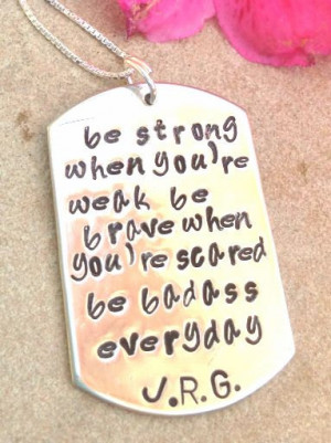 ID Tag necklace, inspirational necklace, fight back to cancer, be ...