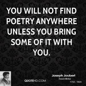 Joseph Joubert Poetry Quotes