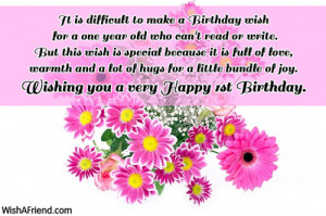 Birthday Quotes For My 1 Year Old Niece ~ Happy birthday wishes for a ...