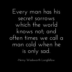 ... make him sad sometimes. Black background of quote shows the sadness
