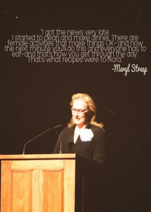 Meryl Streep | Nora Ephron Memorial Service