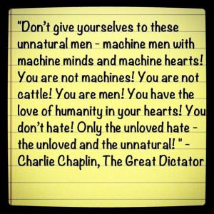 Charlie Chaplin movie quote