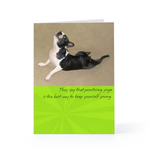 Practicing Yoga Birthday Greeting Card Hallmark
