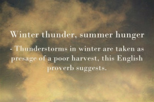 Better the weather you know: proverbs and quotations about the weather